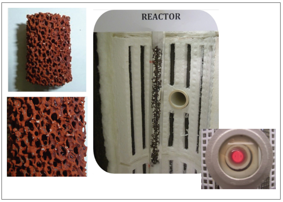 Catalyst and laboratory oven to characterize catalysts for the SO3 decomposition.