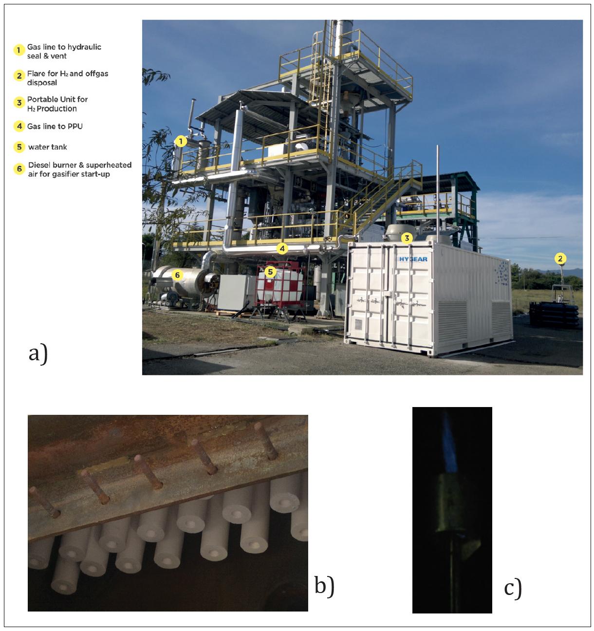 Pictures of the UNIfHY pilot plant built at the ENEA-Trisais Research Center.