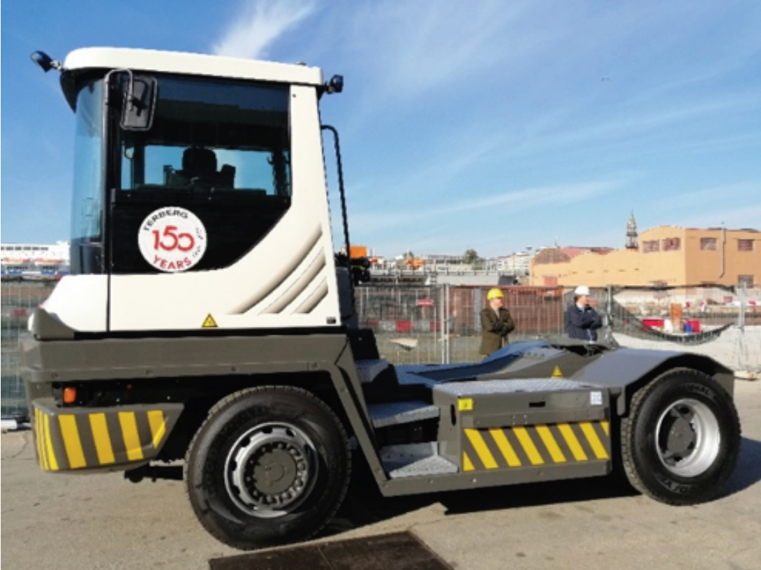 Pictures of the Yard Truck for port operation at ATENA facilities
