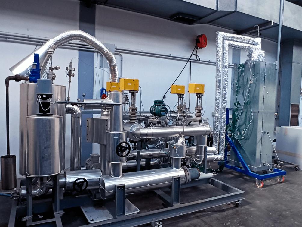 Fig. 2   Immagine dell'impianto sperimentale Solteca3 nel Centro Ricerche ENEA Casaccia