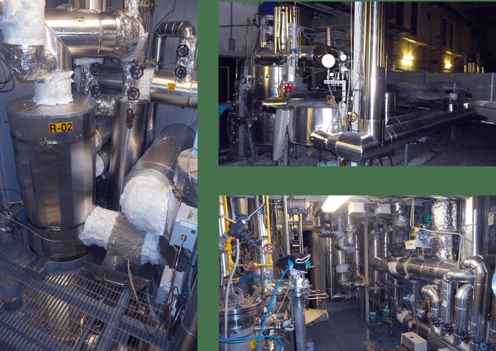 Fig. 3   Impianto CoMETHy per la produzione di idrogeno mediante steam reforming a bassa temperatura alimentato da calore solare (Centro Ricerche ENEA Casaccia)