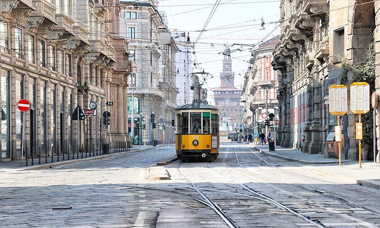 Milano durante il lockdown Foto di Andrea Cherchi