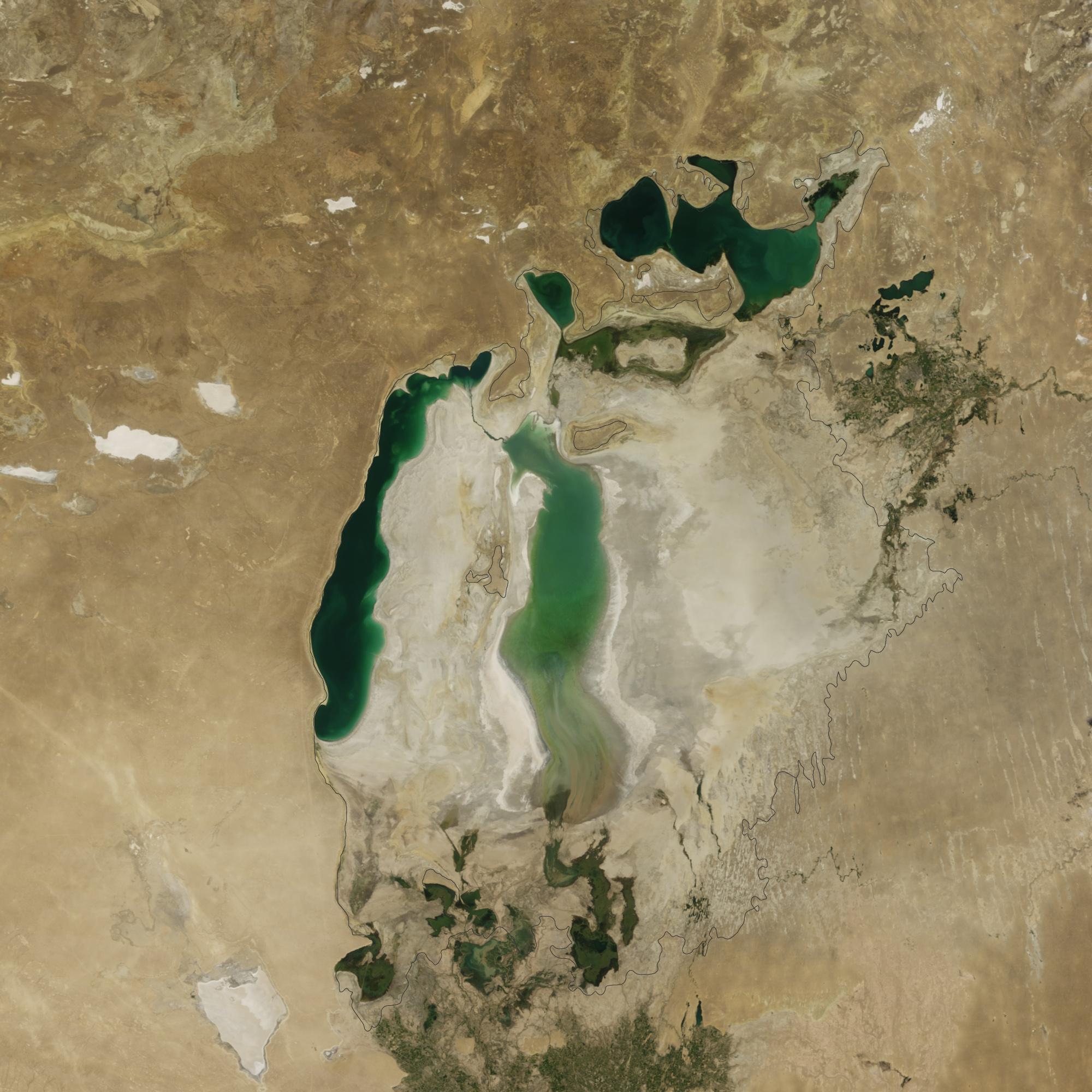 Lago D'Aral dall'alto